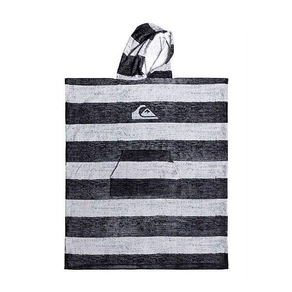 Пончо Quiksilver Hoody Towel Quiet Shade<br><br>Цвет: черный,серый<br>Тип: Пончо<br>Возраст: Взрослый<br>Пол: Мужской