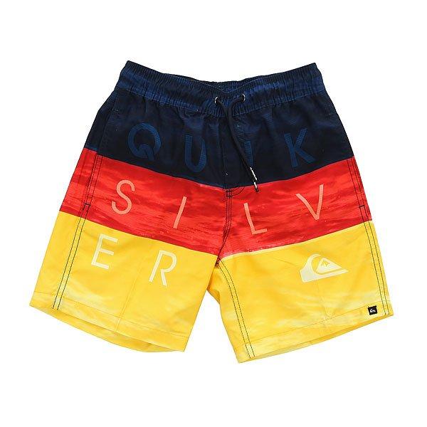 Шорты пляжные детские Quiksilver Wordwavesvly15 B Jamv Nasturticm<br><br>Цвет: красный,желтый,синий<br>Тип: Шорты пляжные<br>Возраст: Детский