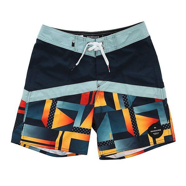 Шорты пляжные детские Quiksilver Checkcryptvy15 Navy Blazer<br><br>Цвет: синий,оранжевый<br>Тип: Шорты пляжные<br>Возраст: Детский