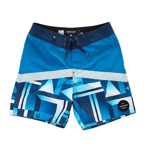 Шорты пляжные детские Quiksilver Checkcryptvy15 Estate Blue<br><br>Цвет: синий,голубой<br>Тип: Шорты пляжные<br>Возраст: Детский