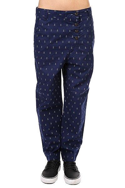Штаны прямые женские Colour Wear Overlap Pant Patriot<br><br>Цвет: синий<br>Тип: Штаны прямые<br>Возраст: Взрослый<br>Пол: Женский