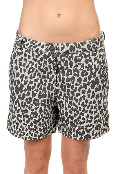 Шорты классические женские Colour Wear Whiff Shorts Grey Melange Leo<br><br>Цвет: серый<br>Тип: Шорты классические<br>Возраст: Взрослый<br>Пол: Женский