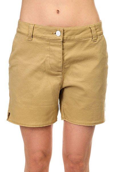 Шорты классические женские Colour Wear Whiff Shorts Camel<br><br>Цвет: бежевый<br>Тип: Шорты классические<br>Возраст: Взрослый<br>Пол: Женский