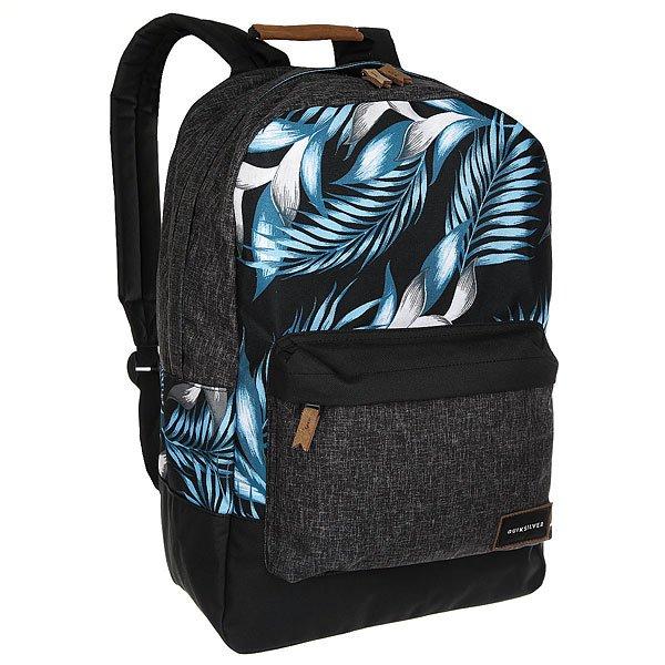 Рюкзак городской Quiksilver Night Track Pri Bonnie Blue ClassicКомпактный мужской рюкзак для учебы и активного отдыха.Технические характеристики: Большое основное отделение с карманом для ноутбука 15.Передний карман на молнии.Мягкие плечевые ремни.Ручка для переноски с мягкой накладкой.Логотип Quiksilver.<br><br>Цвет: черный,серый,голубой<br>Тип: Рюкзак городской<br>Возраст: Взрослый<br>Пол: Мужской