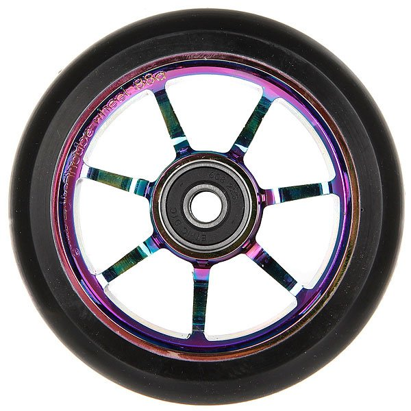 Колесо для самоката Ethic Incube Wheel 100 Mm RainbowПолиуретановое колесо с 6 спицами. Характеристики:Жёсткость - 88А. Диаметр - 110 мм. Вес - 188г.<br><br>Цвет: черный<br>Тип: Колесо для самоката<br>Возраст: Взрослый<br>Пол: Мужской