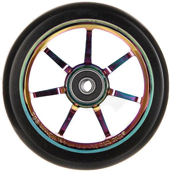 Колесо для самоката Ethic Incube Wheel 110 Mm RainbowПолиуретановое колесо с 6 спицами. Характеристики:Жёсткость - 88А. Диаметр - 110 мм. Вес - 188г.<br><br>Цвет: черный<br>Тип: Колесо для самоката<br>Возраст: Взрослый<br>Пол: Мужской