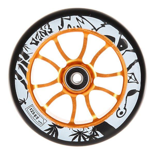 Колесо для самоката Ao Enzo 2 Wheel 125mm GoldEnzo Commeau - один из самых популярных райдеров во все времена, и не удивительно, что второе поколение колес было названо в его честь. Качественные колеса для уличного катания. Что может быть лучше?Технические характеристики: Сердечник из алюминия 6061 T6.Жесткость 86A.Подшипники ABEC 9.<br><br>Цвет: черный,оранжевый<br>Тип: Колесо для самоката<br>Возраст: Взрослый<br>Пол: Мужской