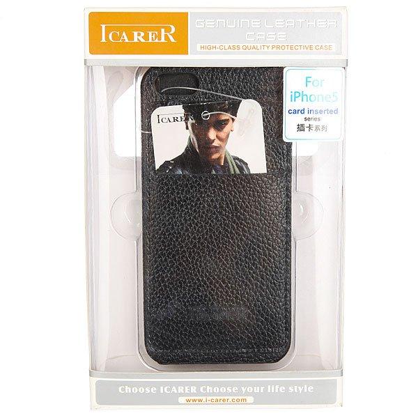 Чехол для iPhone 5 Icarer Card inserted series RIP502B Black<br><br>Цвет: черный<br>Тип: Чехол для iPhone