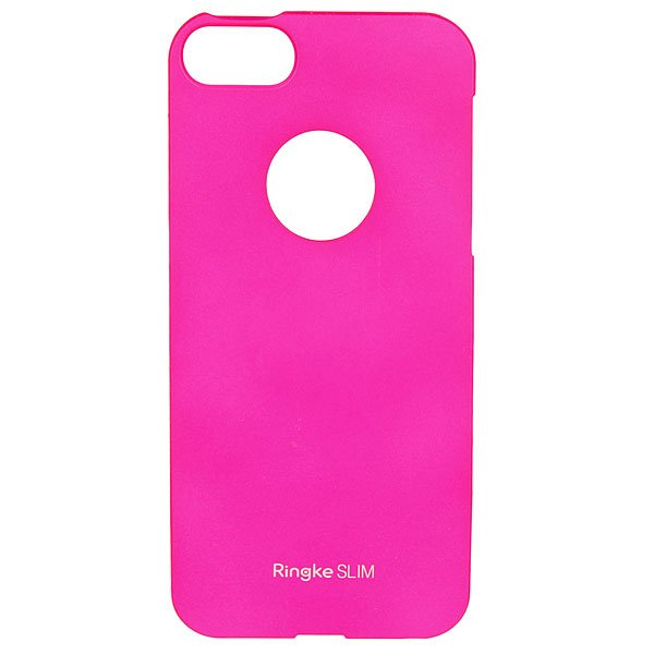 Чехол для iPhone 5 Rearth Ringke Slim с окном логотипа Pink<br><br>Цвет: розовый<br>Тип: Чехол для iPhone<br>Возраст: Взрослый
