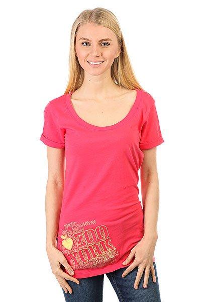 Футболка женская Zoo York Chalkboard Cherry Garcia<br><br>Цвет: розовый<br>Тип: Футболка<br>Возраст: Взрослый<br>Пол: Женский