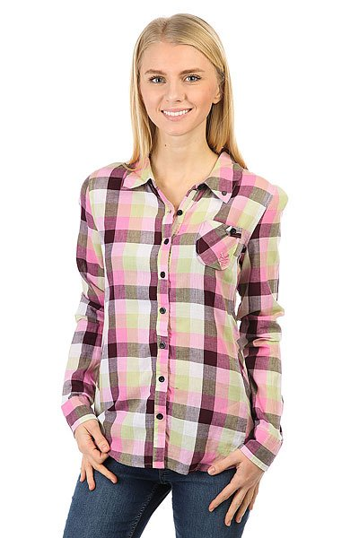 Рубашка в клетку женская Zoo York Plaid Top Gum рубашка в клетку dc kalis plaid ls wvtp kalis plaid chili pepper