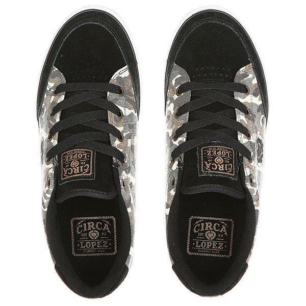 Кеды кроссовки низкие Circa Lopez 50 Slim Camo/Black от Proskater