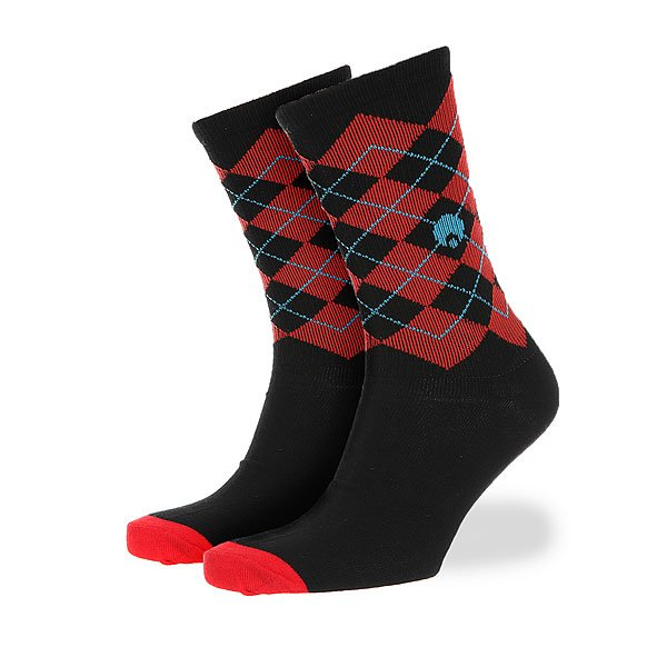 Носки средние Osiris Igyle High Cut Argyle Socks Black