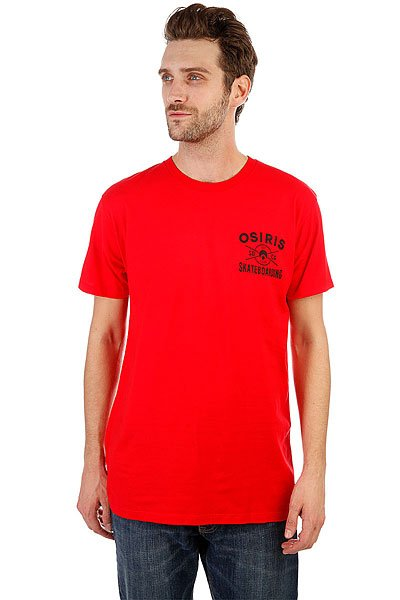 Футболка Osiris Skateboarding Red футболка osiris live fast white red