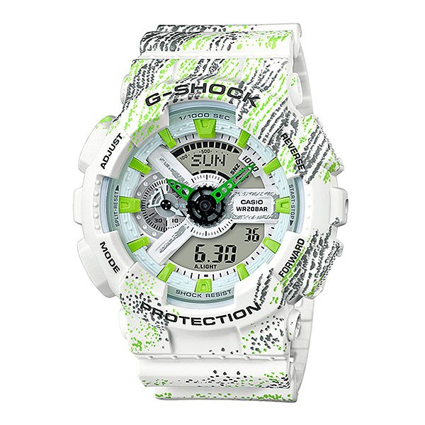 Электронные часы Casio G-Shock Ga-110tx-7a White/Green/Black casio g shock g classic ga 400 7a