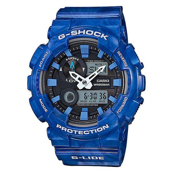 Электронные часы Casio G-Shock Gax-100ma-2a BlueСтильный внешний облик в спортивных часах с расширенным набором функций.Технические характеристики: Автоматическая светодиодная подсветка.Ударопрочная конструкция защищает от ударов и вибрации.Устойчивость к воздействию магнитного поля.Термометр (-10°C / +60°C).Отображение данных о луне.Датчик приливов и отливов.Функция мирового времени.Функция секундомера - 1/100 сек - 1.000 часов.Таймер - 1/1 мин. - 24 часа.5 ежедневных будильников.Функция повтора будильника.Включение/выключение звука кнопок.Автоматический календарь.12/24-часовое отображение времени.Минеральное стекло.Корпус из полимерного пластика.Ремешок из полимерного материала.3 года - 1 аккумулятор.Водонепроницаемость (20 Бар).<br><br>Цвет: синий<br>Тип: Электронные часы<br>Возраст: Взрослый<br>Пол: Мужской