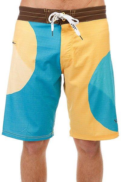 Шорты пляжные Lost Big Dot Yellow<br><br>Цвет: желтый,голубой<br>Тип: Шорты пляжные<br>Возраст: Взрослый<br>Пол: Мужской