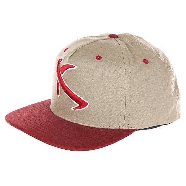 Бейсболка с прямым козырьком Lost Poz Neg Iv Red<br><br>Цвет: бежевый,бордовый<br>Тип: Бейсболка с прямым козырьком<br>Возраст: Взрослый<br>Пол: Мужской