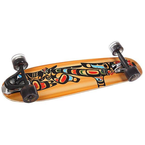 Скейт круизер Pumpkin Rocky 80 Cutback Complete Totem 8.25 x 31.25 (80 см)Pumpkin Rocky - настоящий сёрфборд для города. Дека с выраженным рокером и подвесками Cutback, позволяют пампить этот снаряд до запредельных скоростей. Улицы, деревянные и бетонированные скейтпарки - этому сёрфскейту всё по плечу. Хотите получить невероятные ощущения, тогда городской сёрфскейт Pumpkin Liner именно то, что Вам нужно. Характеристики:Рокер: 2,5 см. Подвески: Viking Cutback (передняя) Viking Inverse 150 mm (задняя). Колёса: Viking VW 70 мм 78A. Колёсная база: 58 см. Подшипники: ABEC7. Дека: вертикально ламинированный набор. Назначение: карвинг, круизинг. Сделано в Швейцарии.<br><br>Цвет: мультиколор<br>Тип: Скейт круизер<br>Возраст: Взрослый<br>Пол: Мужской
