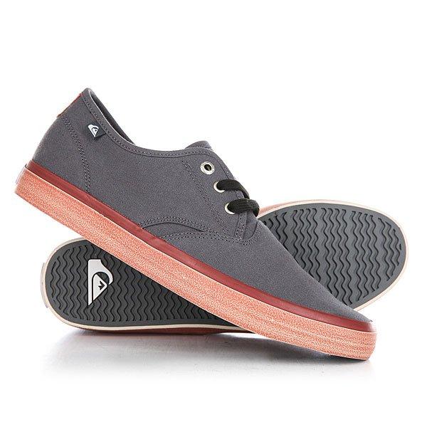 Кеды кроссовки низкие Quiksilver Shorebreak Delu Grey/Red/White
