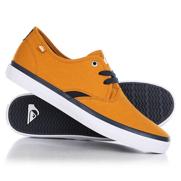 Кеды кроссовки низкие Quiksilver Shorebreak Orange/White кроссовки quiksilver quiksilver qu192ampfl58