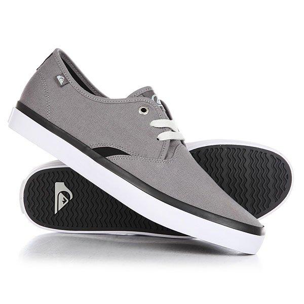 Кеды кроссовки низкие Quiksilver Shorebreak Grey/Black/White кеды кроссовки низкие детские quiksilver beacon black black grey