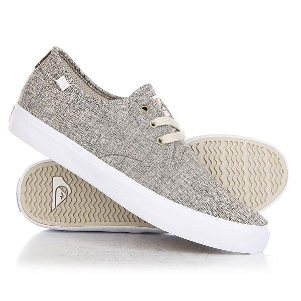 Кеды кроссовки низкие Quiksilver Shorebreak Delu Grey/White кеды кроссовки низкие детские quiksilver beacon black grey white