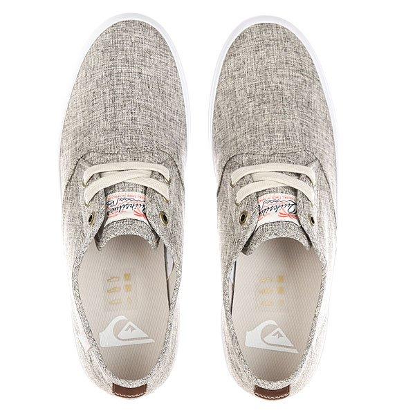 Кеды кроссовки низкие Quiksilver Shorebreak Delu Grey/White