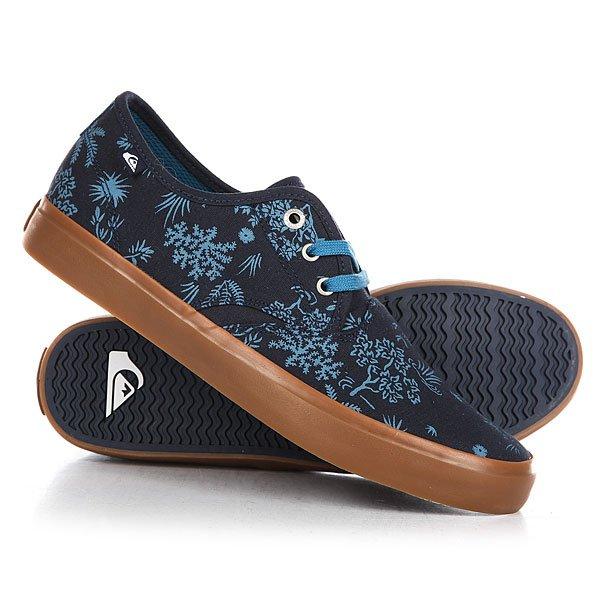 Кеды кроссовки низкие Quiksilver Shorebreak Delu Blue/White