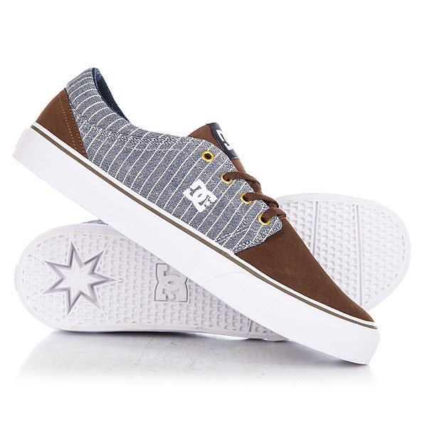 Кеды кроссовки низкие DC Trase Se Brown/Blue dc shoes кеды dc council se navy camel 8