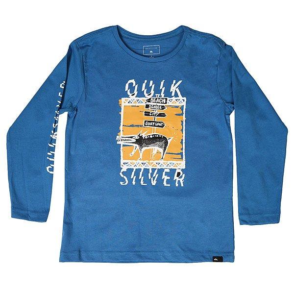 Лонгслив детский Quiksilver Lsclastebonevlo Vallarta Blue<br><br>Цвет: синий<br>Тип: Лонгслив<br>Возраст: Детский