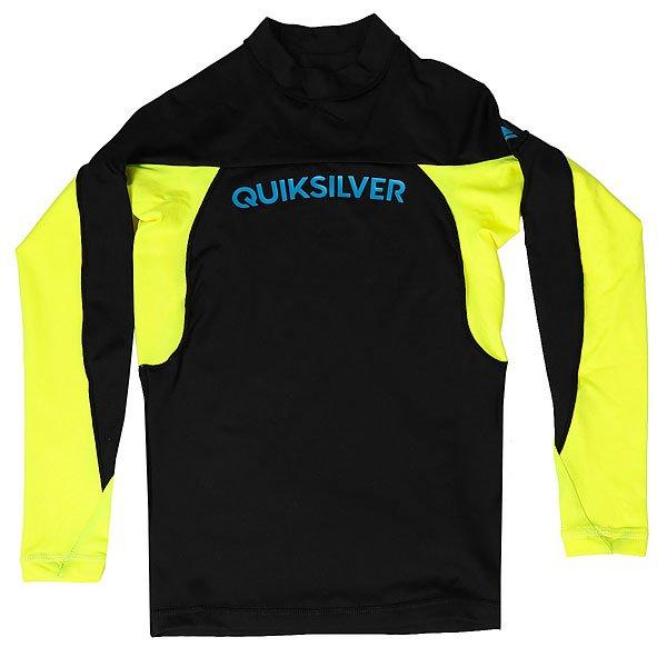 Гидрофутболка детская Quiksilver Performerboyls Black/Safety YellowСерфовый топ для мальчиков Performer Long Sleeve от Quiksilver.Технические характеристики: Топ для серфинга с длинным рукавом.Фактор защиты от солнечного УФ излучения UPF 50+.Облегающий крой.Технологичные швы Coil Lock.<br><br>Цвет: черный,желтый<br>Тип: Гидрофутболка<br>Возраст: Детский