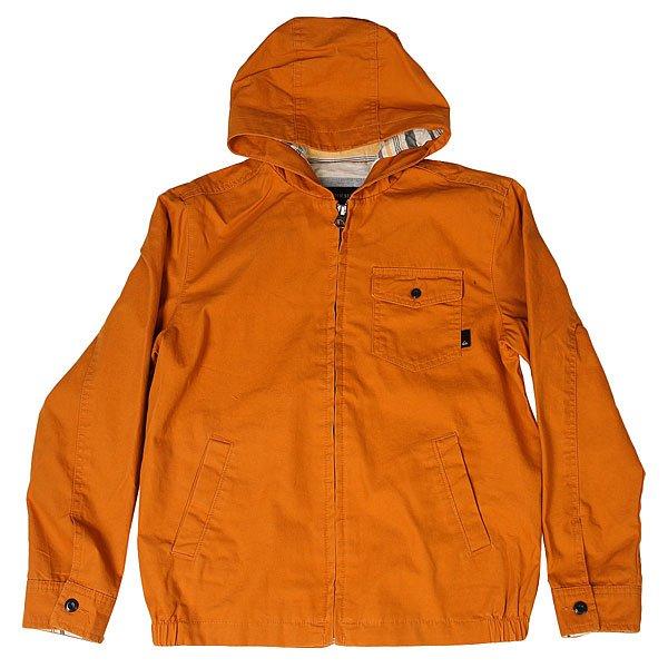 Куртка детская Quiksilver Maxsonshoreyth Golden OakКомфортная детская куртка из обработанного хлопка. Удобная модель в приятной цветовой гамме!Технические характеристики: Хлопчатобумажная ткань.Смягчающая обработка.Подкладка из хлопка Шамбре.Нагрудный карман с клапаном на пуговице.Плоские прорезные карманы.Скрытая металлическая молния.<br><br>Цвет: коричневый<br>Тип: Куртка<br>Возраст: Детский