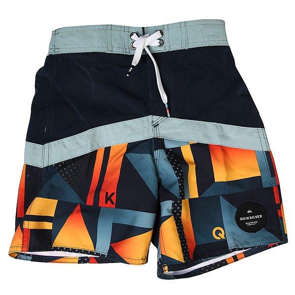 Шорты пляжные детские Quiksilver Checkcryptvby12 Navy Blazer<br><br>Цвет: синий,оранжевый<br>Тип: Шорты пляжные<br>Возраст: Детский
