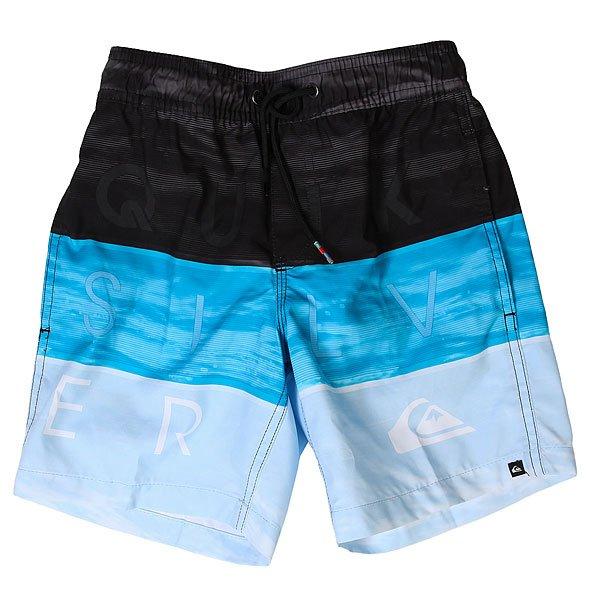 Шорты пляжные детские Quiksilver Wordwavesvly15 Blue Danube<br><br>Цвет: черный,голубой<br>Тип: Шорты пляжные<br>Возраст: Детский