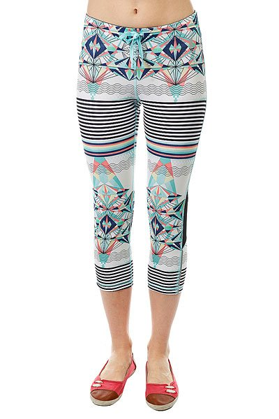Леггинсы женские Roxy Stay On Capri J Pant Marshmallow Psyche