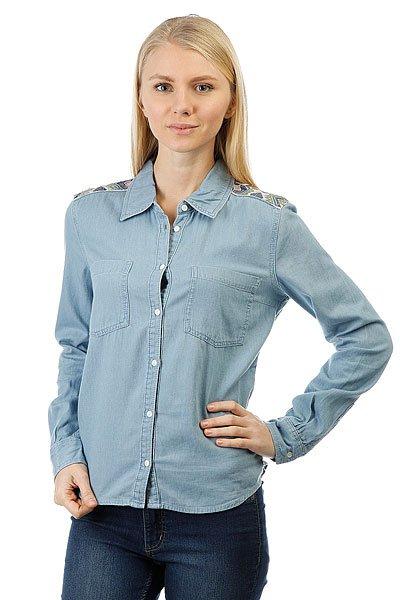 Рубашка женская Roxy Lightcloudy Light Blue<br><br>Цвет: голубой<br>Тип: Рубашка<br>Возраст: Взрослый<br>Пол: Женский