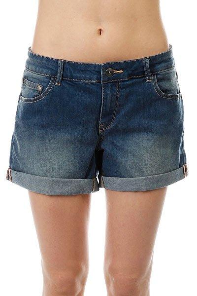 Шорты джинсовые женские Roxy Rollyup J Dnst Dark Blue шорты классические женские roxy easybeachyshort j dnst anthracite