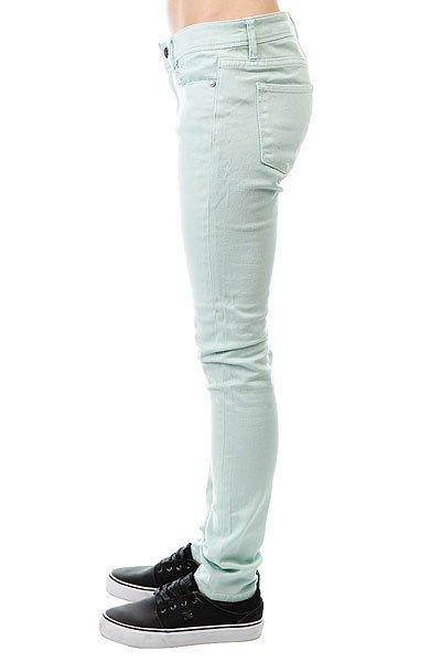 цена Джинсы узкие женские Roxy Suntrippercolor J Pant Bleached Aqua онлайн в 2017 году