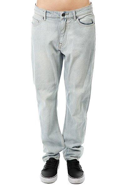 цена  Джинсы прямые женские Roxy Onegoodshot J Pant Bleached Blue  онлайн в 2017 году