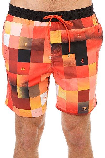 Шорты пляжные Quiksilver Checkmarkvoll17 Nasturticm<br><br>Цвет: оранжевый,черный<br>Тип: Шорты пляжные<br>Возраст: Взрослый<br>Пол: Мужской