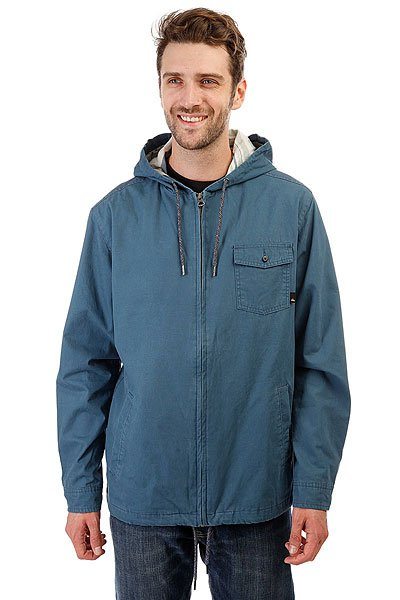 Куртка Quiksilver Maxsonshore Indian TealКомфортная куртка Maxson Shore из обработанного хлопка. Удобная модель в приятной цветовой гамме!Технические характеристики: Хлопчатобумажная ткань.Смягчающая обработка.Классический, удобный крой.Подкладка из хлопка Шамбре.Нагрудный карман с клапаном на пуговице.Плоские прорезные карманы.Скрытая металлическая молния.<br><br>Цвет: синий<br>Тип: Куртка<br>Возраст: Взрослый<br>Пол: Мужской