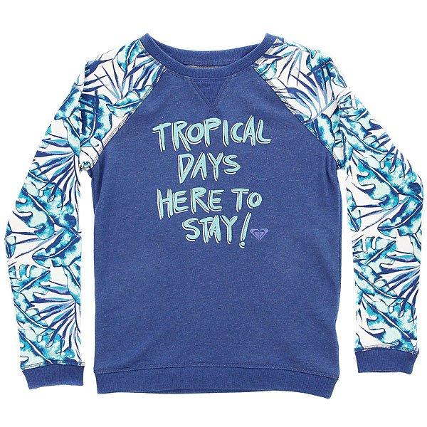 Толстовка свитшот детская Roxy Kaukura Marshmallow Tropical<br><br>Цвет: синий,мультиколор<br>Тип: Толстовка свитшот<br>Возраст: Детский
