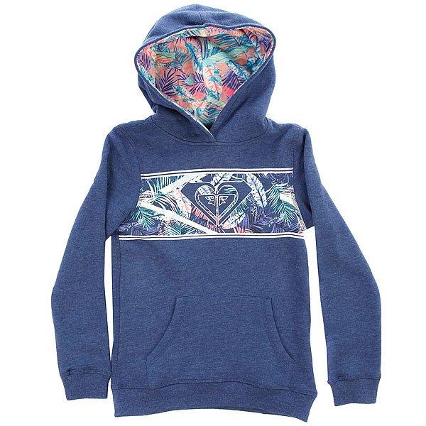 Толстовка кенгуру детская Roxy Thejourneyendin Blue Depths<br><br>Цвет: синий<br>Тип: Толстовка кенгуру<br>Возраст: Детский