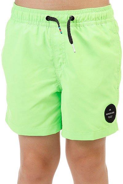 Шорты пляжные детские Quiksilver Everydaysolvy13 Green Gecko<br><br>Цвет: зеленый<br>Тип: Шорты пляжные<br>Возраст: Детский