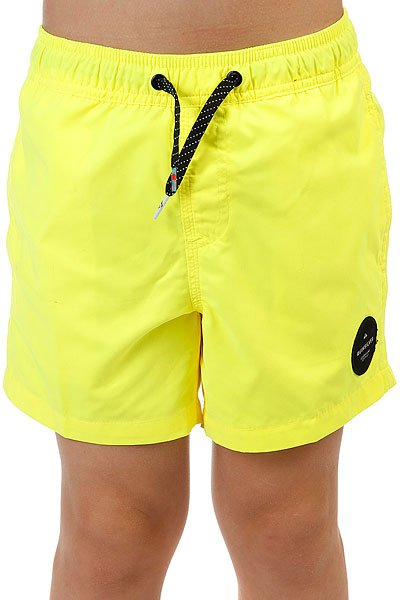 Шорты пляжные детские Quiksilver Everydaysolvy13 Safety Yellow<br><br>Цвет: желтый<br>Тип: Шорты пляжные<br>Возраст: Детский