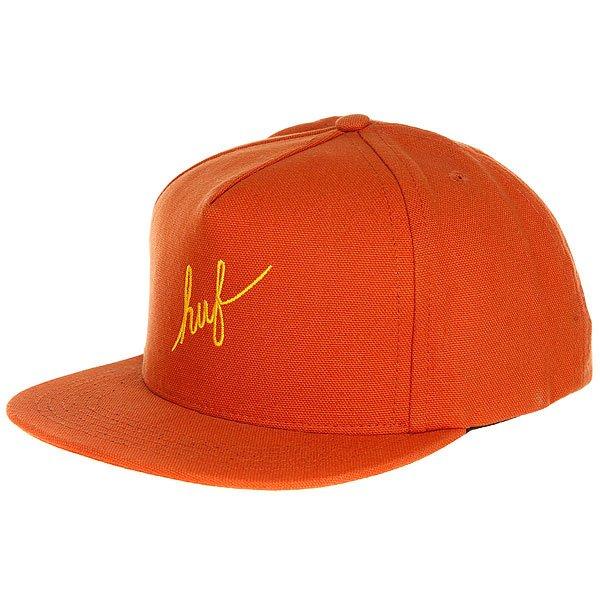 Бейсболка с прямым козырьком Huf Script Duck Snapback Brown<br><br>Цвет: коричневый<br>Тип: Бейсболка с прямым козырьком<br>Возраст: Взрослый
