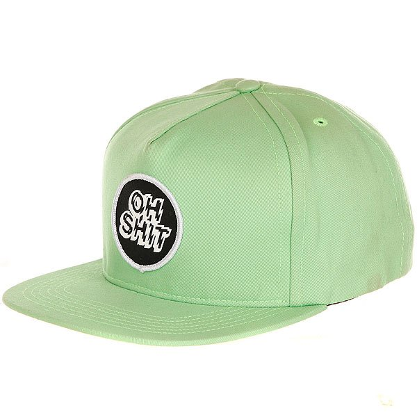Бейсболка с прямым козырьком Huf Oh Shit Merrow Snapback Light Green бейсболка huf eden snapback royal