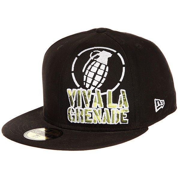 Бейсболка с прямым козырьком Grenade Viva La Big Crop Black<br><br>Цвет: черный<br>Тип: Бейсболка с прямым козырьком<br>Возраст: Взрослый