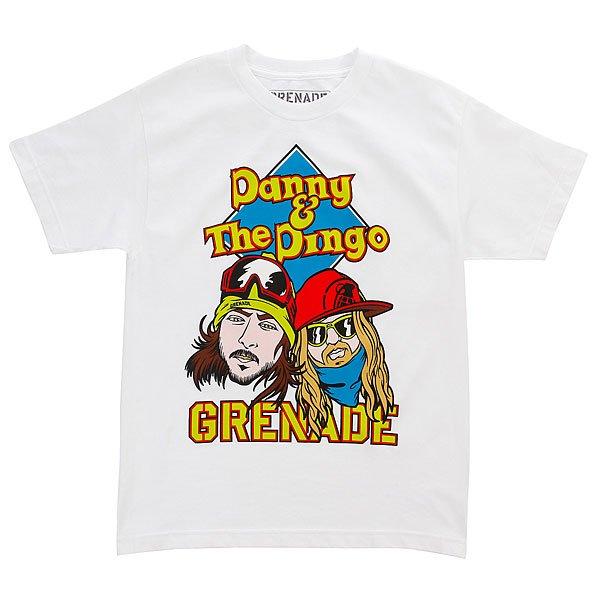 Футболка детская Grenade Danny &amp; Dingo White<br><br>Цвет: белый<br>Тип: Футболка<br>Возраст: Детский